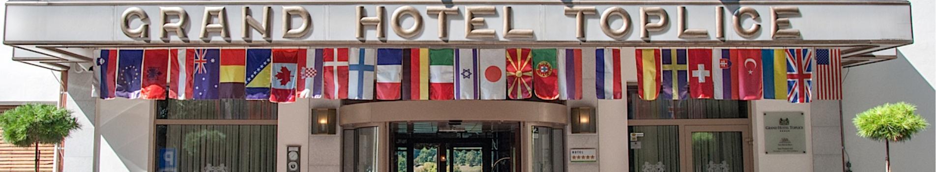 Vhod v Grand Hotel Toplice