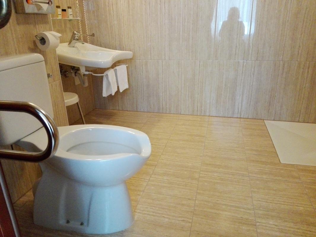 Prilagojena kopalnica v sobi