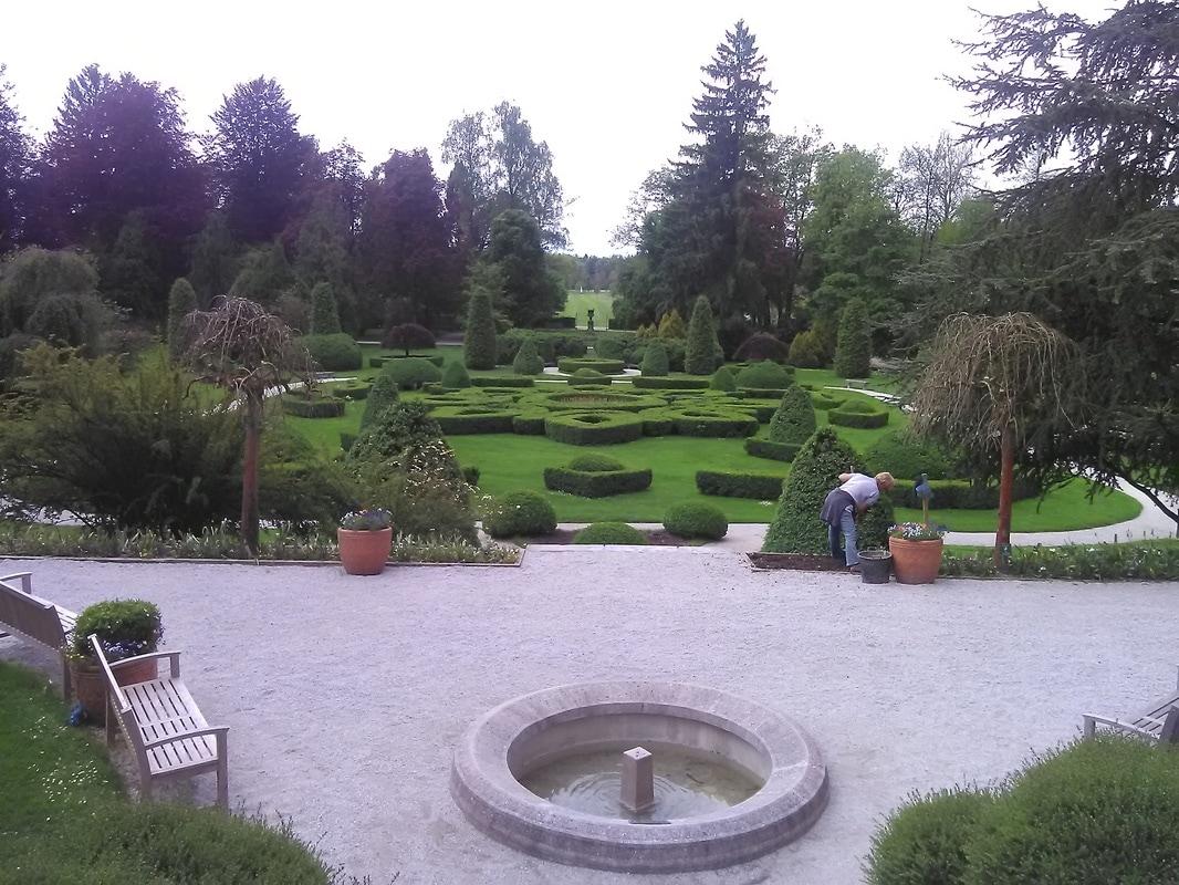 Pogled na francoski vrt