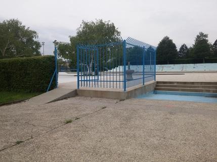 Klančina na bazenskem delu