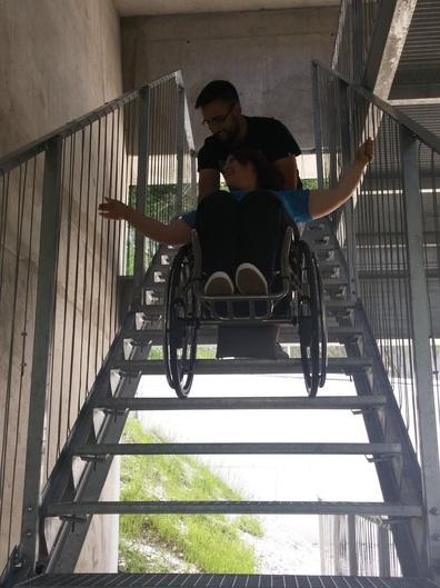 Stopnice na samem vrhu