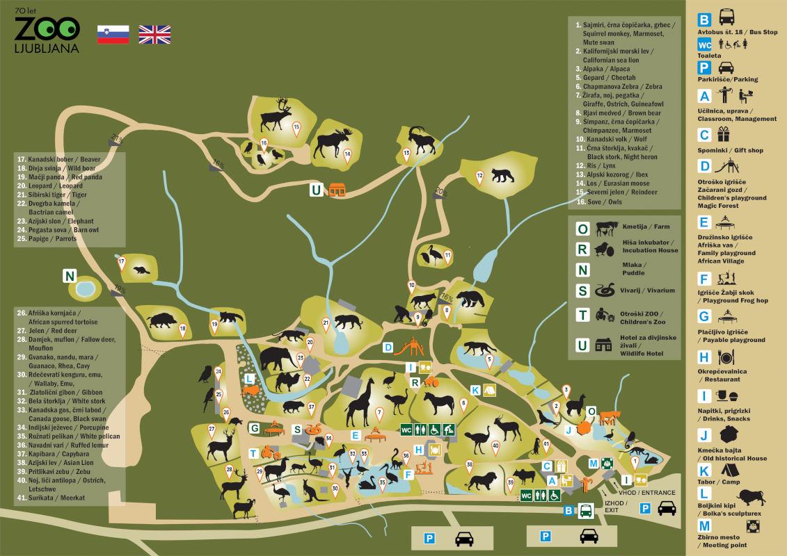 Zemljevid živalskega vrta